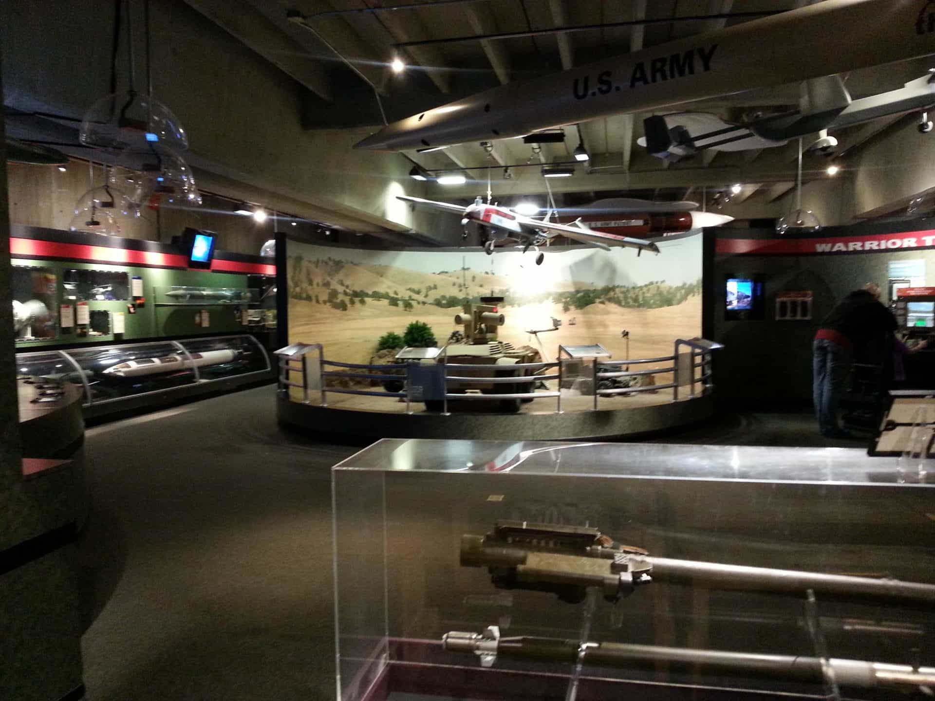 US Space and Rocket Center - Team Redstone Exhibit with tank