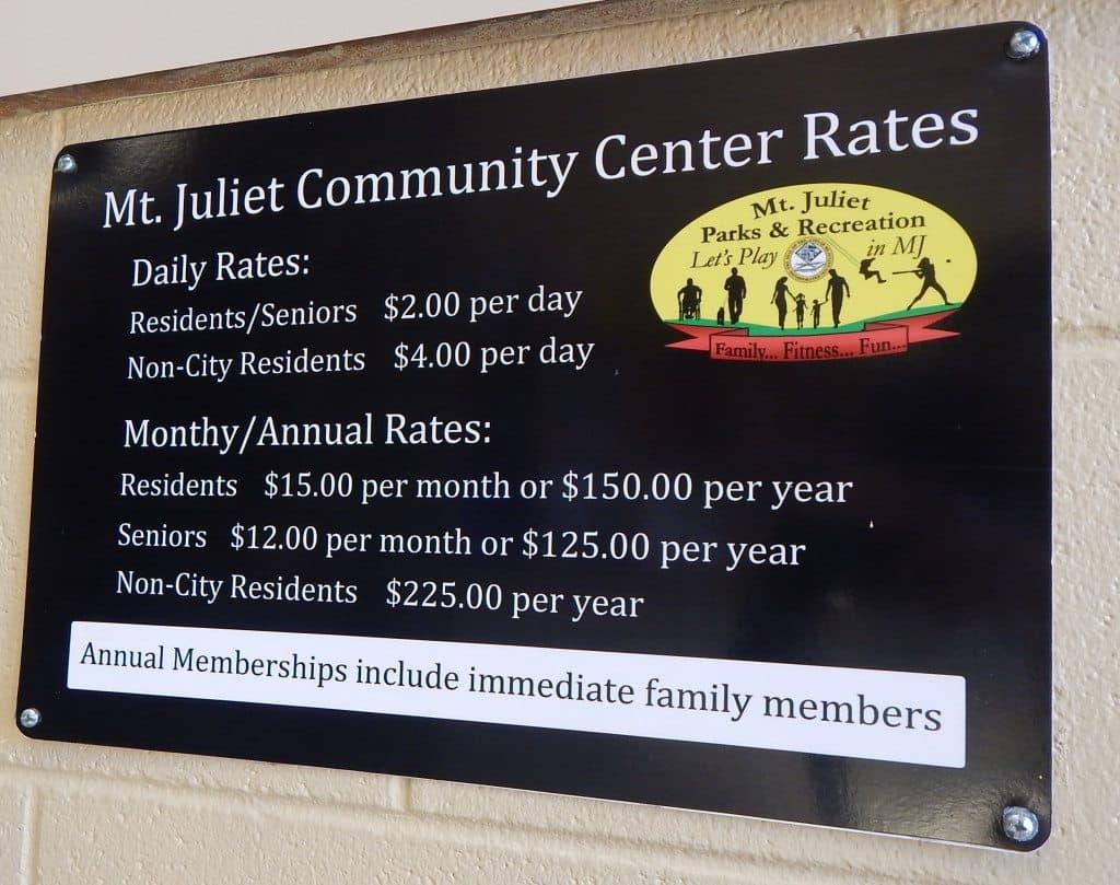 Charlie Daniels Park - Mt Juliet Community Center Rates
