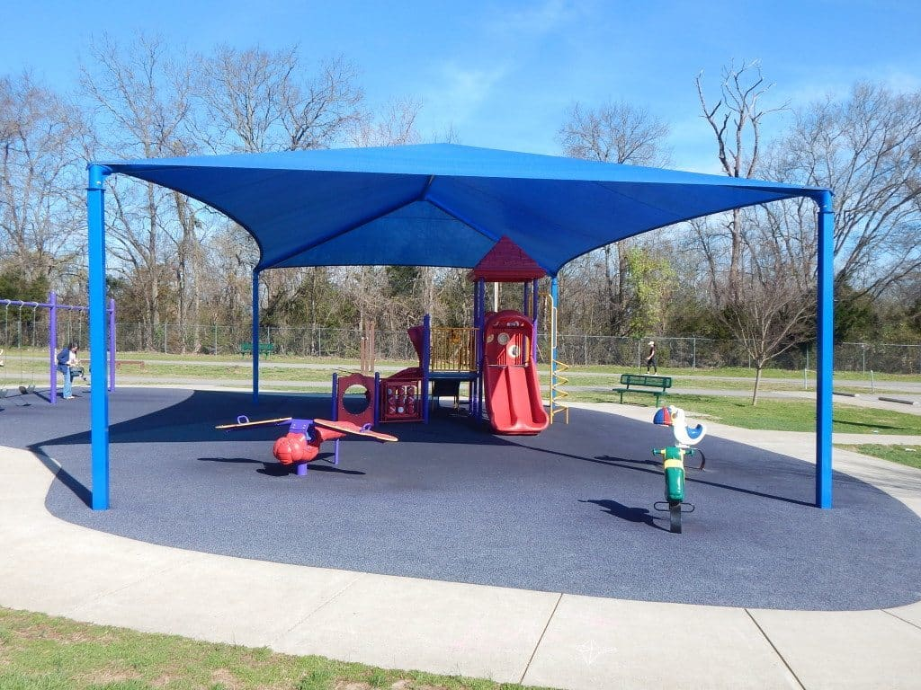 Charlie Daniels Park - shade covered Toddler Playground