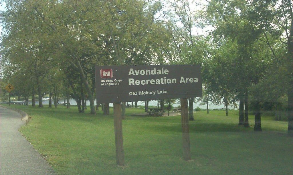 Avondale Recreation Area - sign