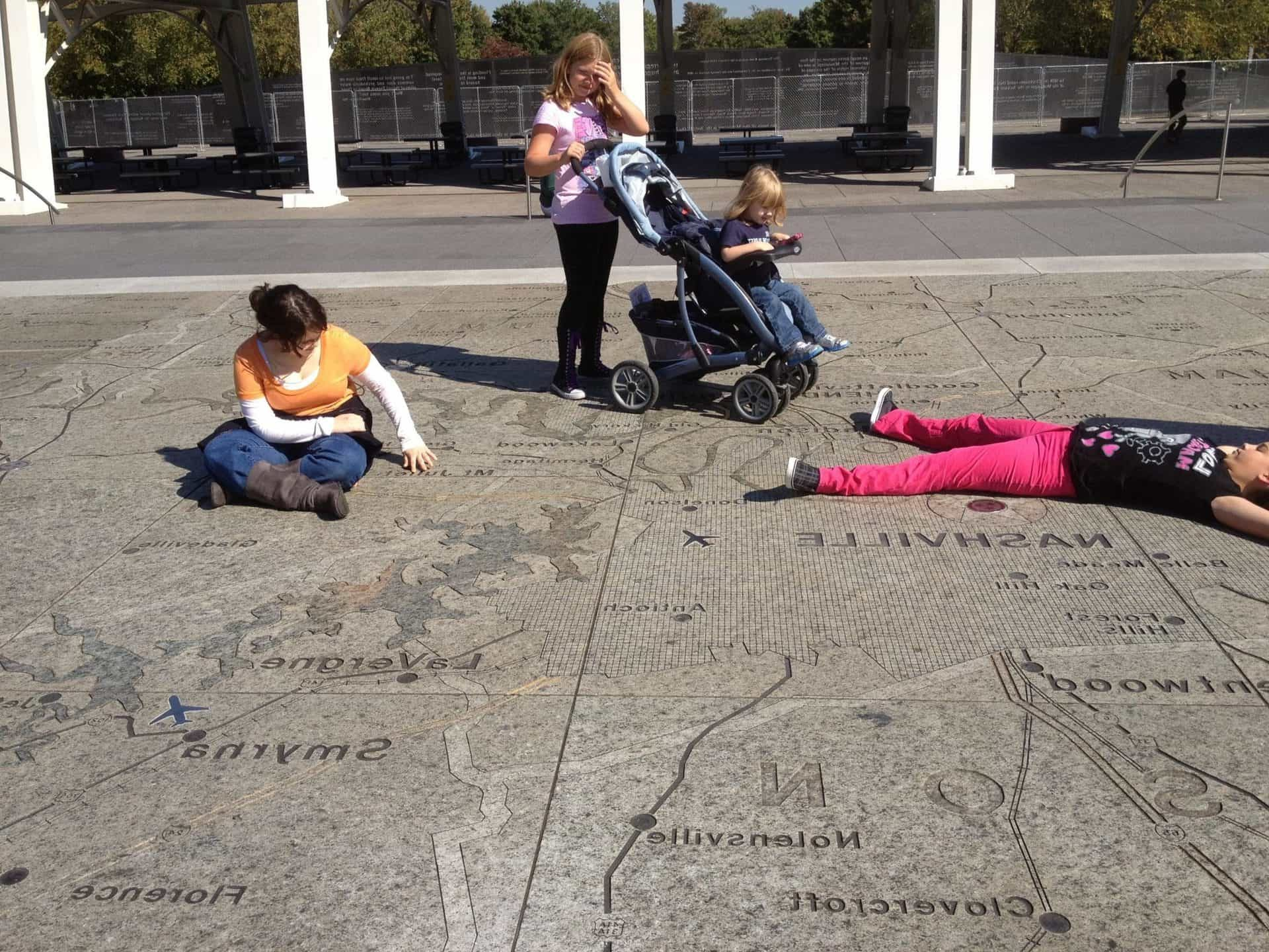 Finding cities on the giant Tennessee state map