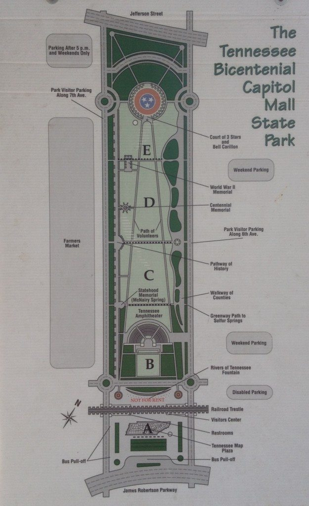 Bicentennial Mall Map