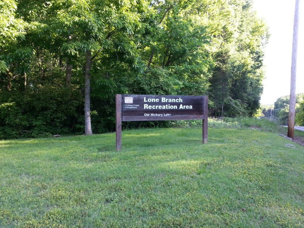 Lone Branch Recreation Area - welcome sign