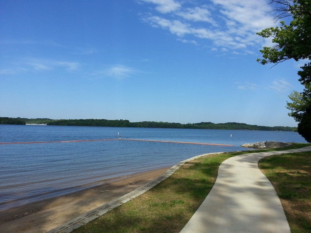 Cook Recreation Area walking path and lake view