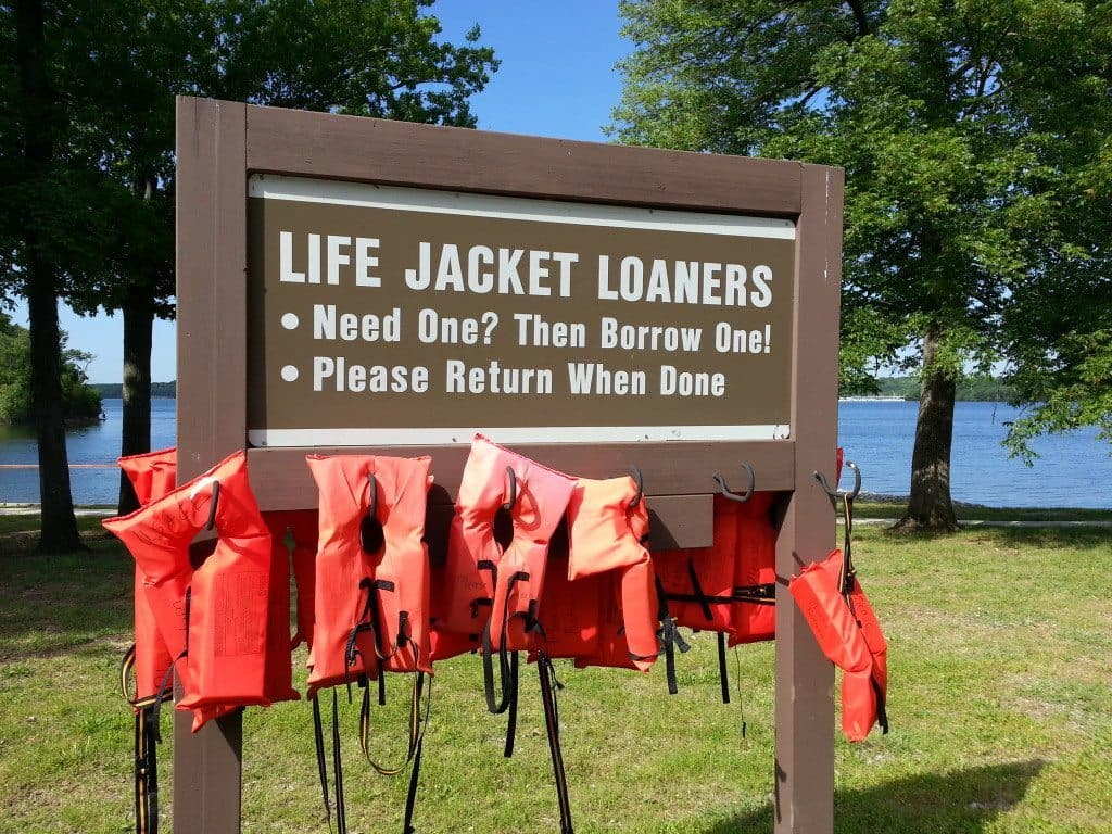 Cook Recreation Area life jackets