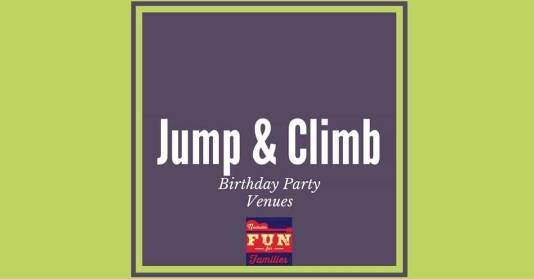 Jump & Climb Birthday Party Venues