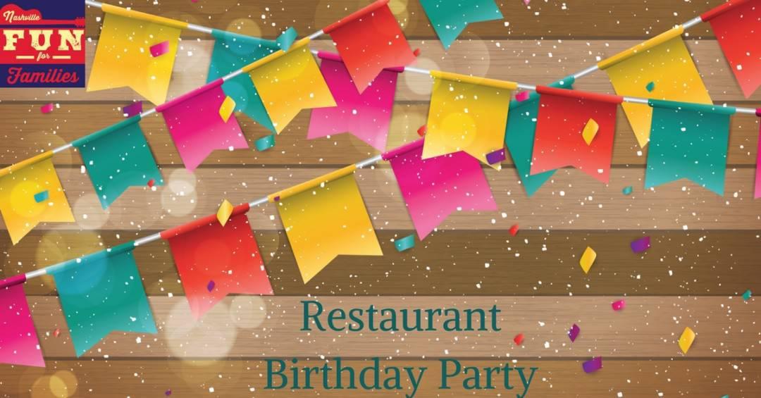 Restaurant Birthday Party Venues