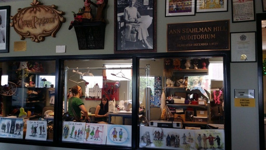 Nashville Children's Theatre - Costume Shop through the window