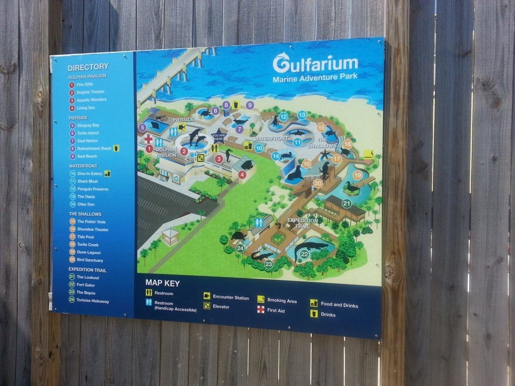 Gulfarium Marine Adventure Park map