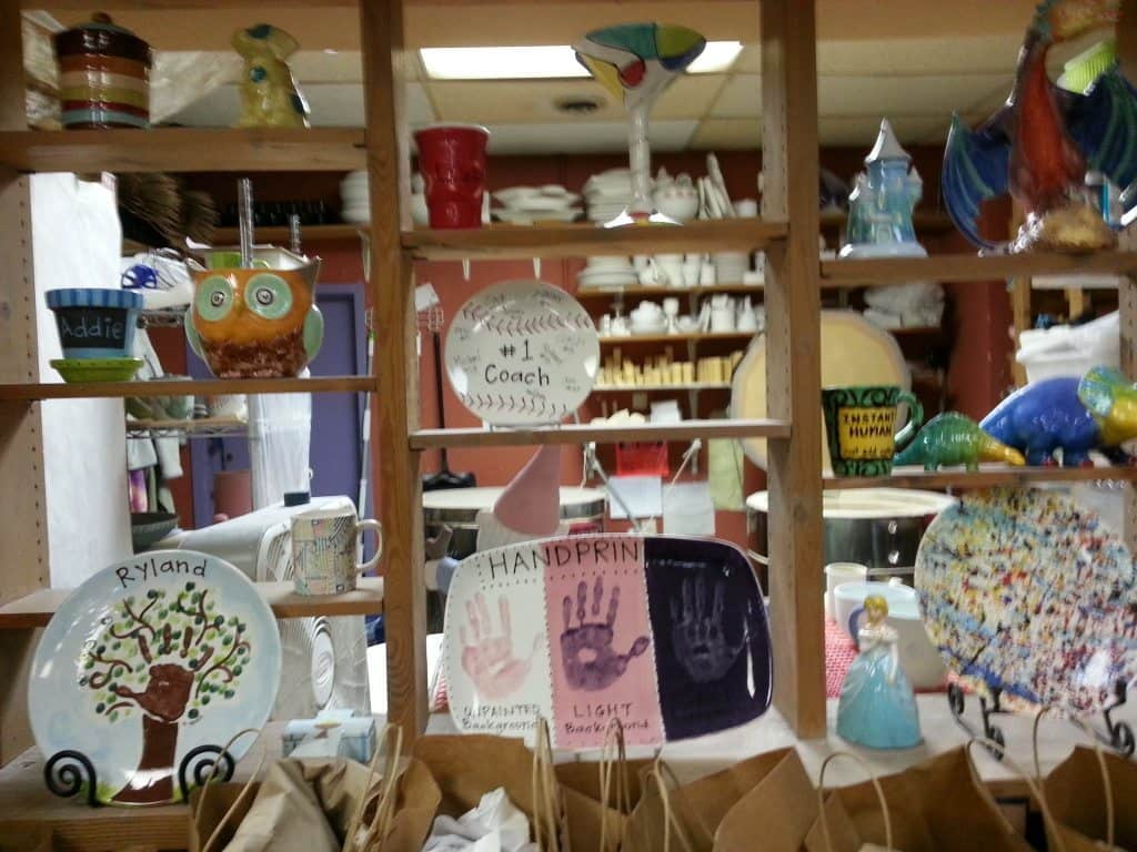 Brushfire Pottery Studio decorations