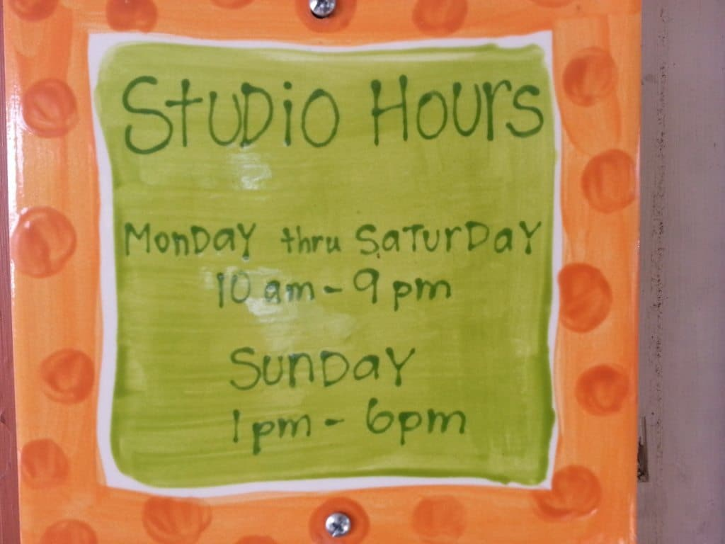 Brushfire Pottery Studio hours