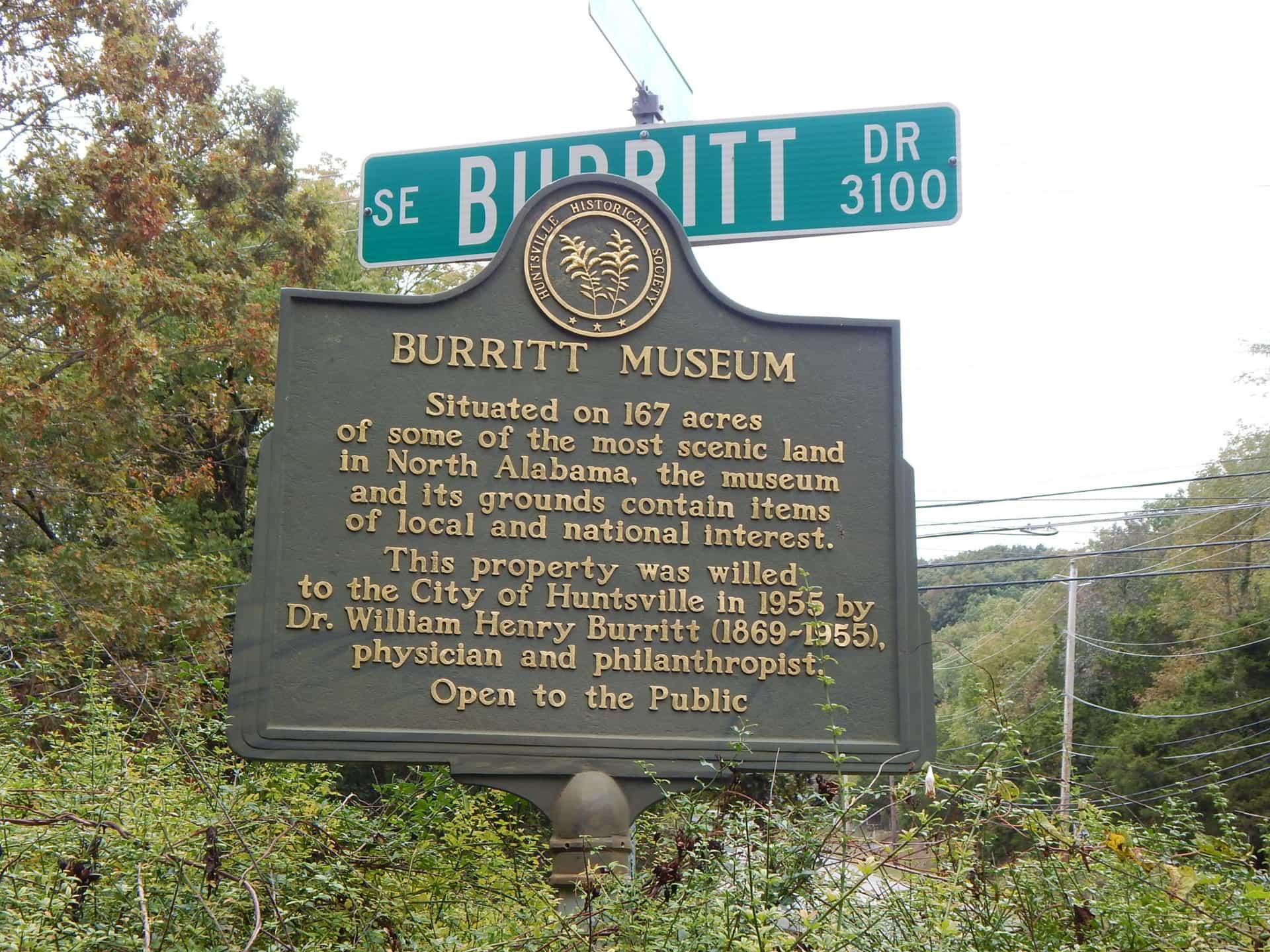 Burritt on the Mountain - Historical Marker