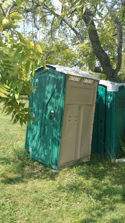 Pratt's Orchard - portapotty