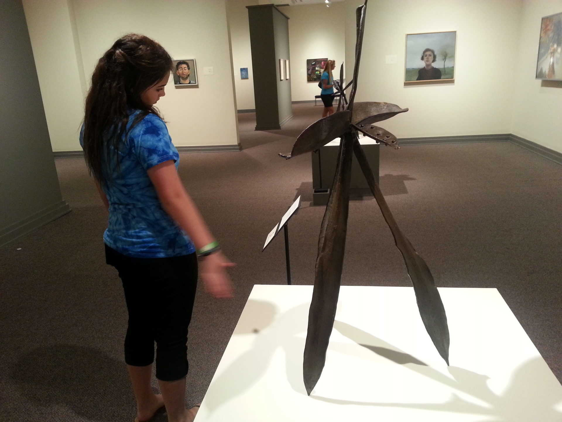Huntsville Museum of Art - Katie examining a sculpture