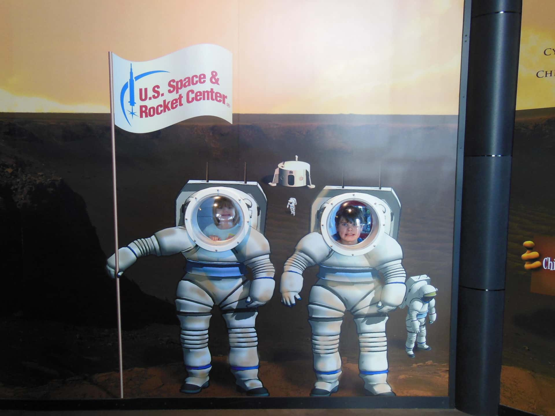 US Space and Rocket Center - Saturn V Hall Kids Area - Astronaut Photo Op