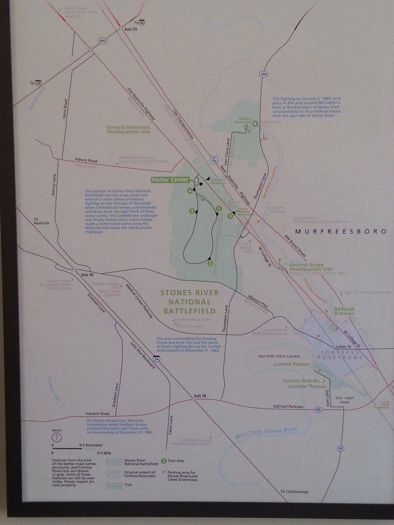 Stones River Battlefield map