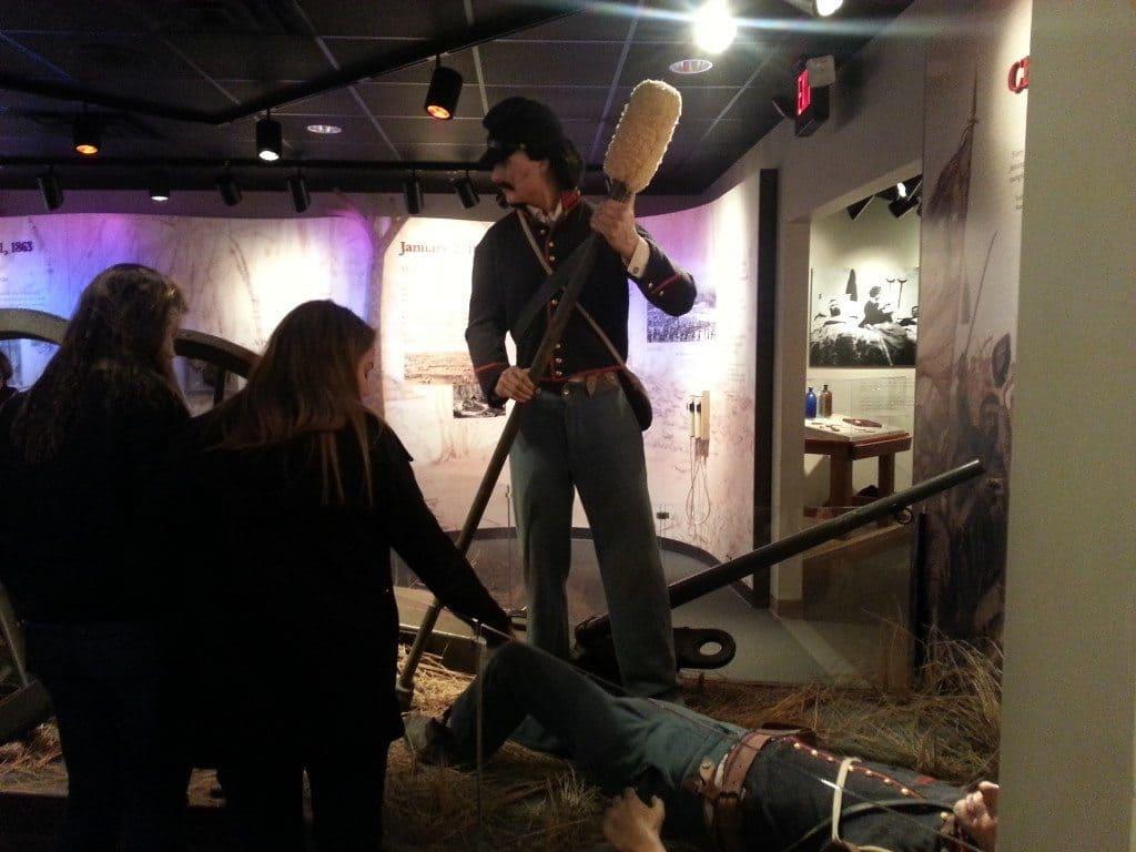 Stones River Battlefield life-like soldier display
