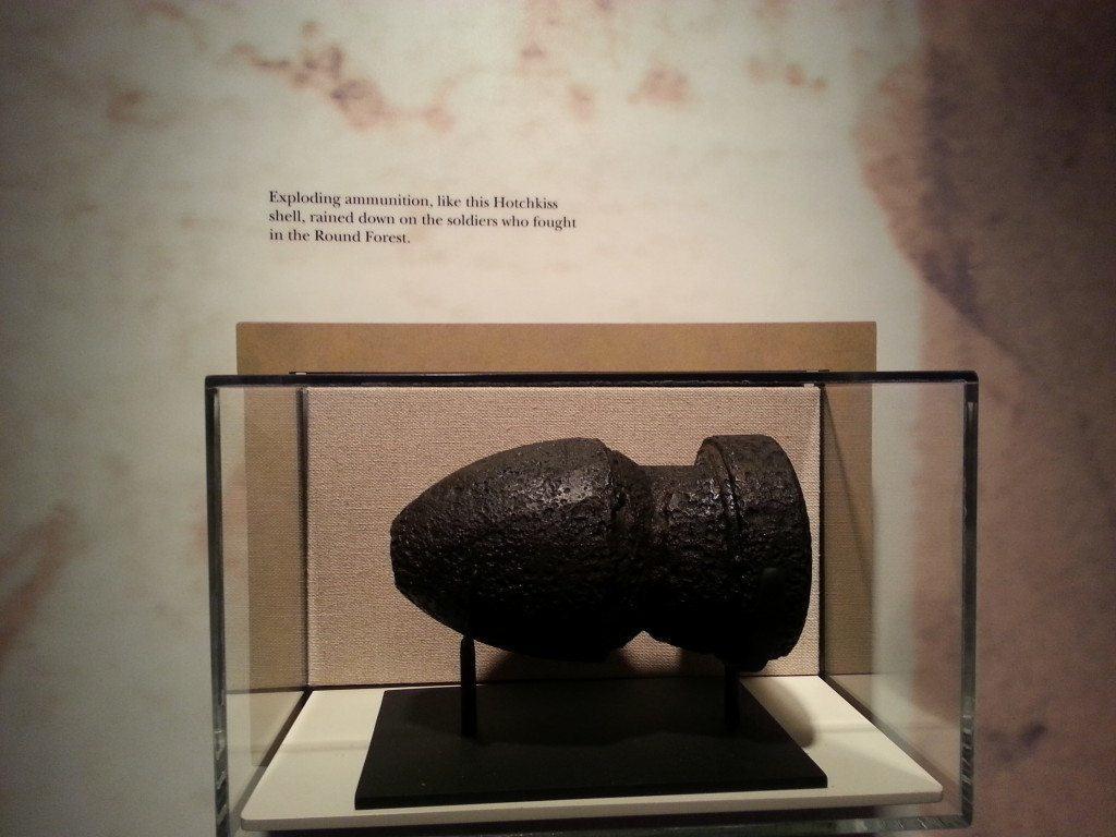 Stones River Battlefield cannonball display