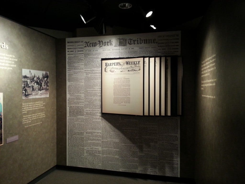 Stones River Battlefield document display