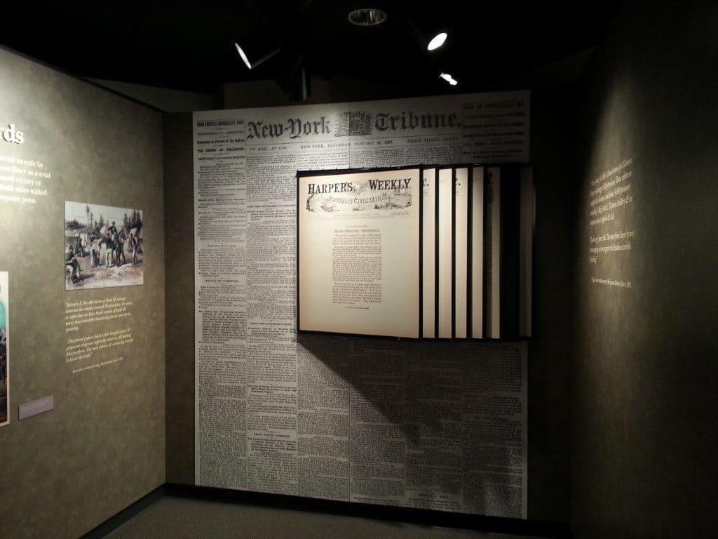 Stones River Battlefield document display