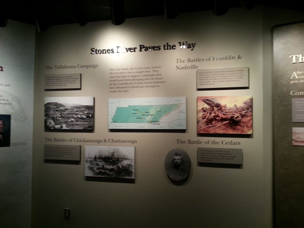 Stones River Battlefield Tennessee history wall display