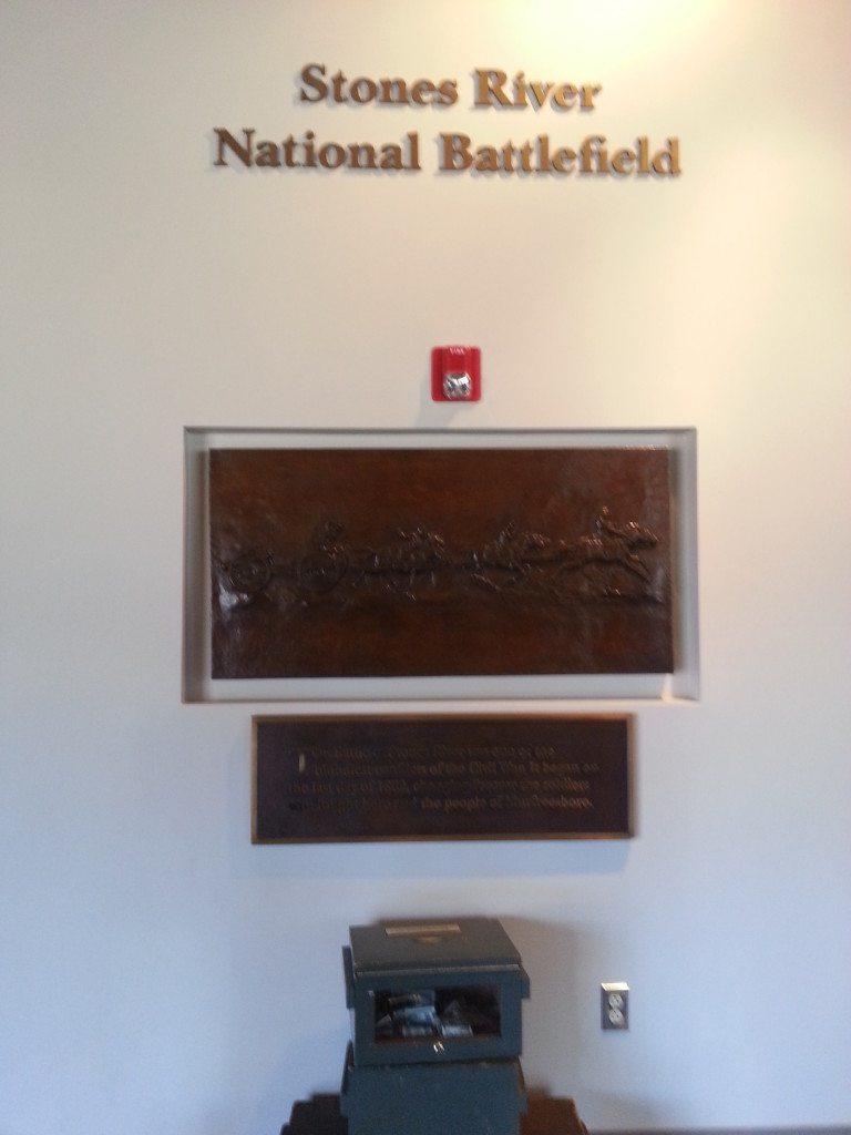 Stones River Battlefield sign