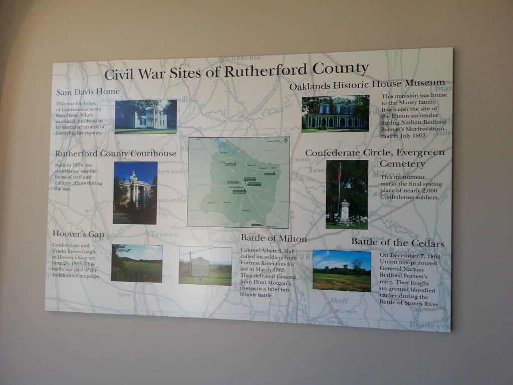 Stones River Battlefield map display