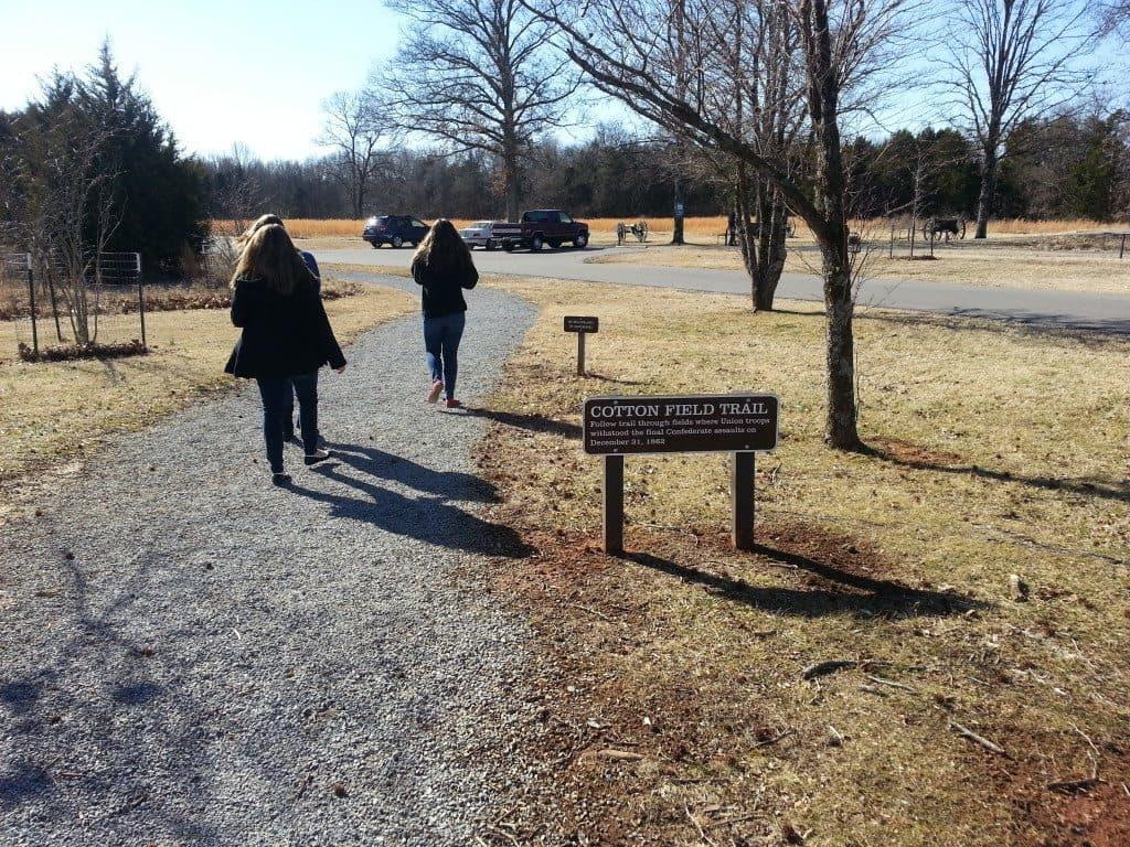 Stones River Battlefield tour walkway