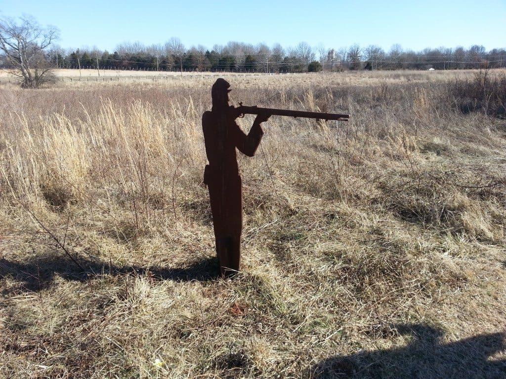 Stones River Battlefield soldier statue