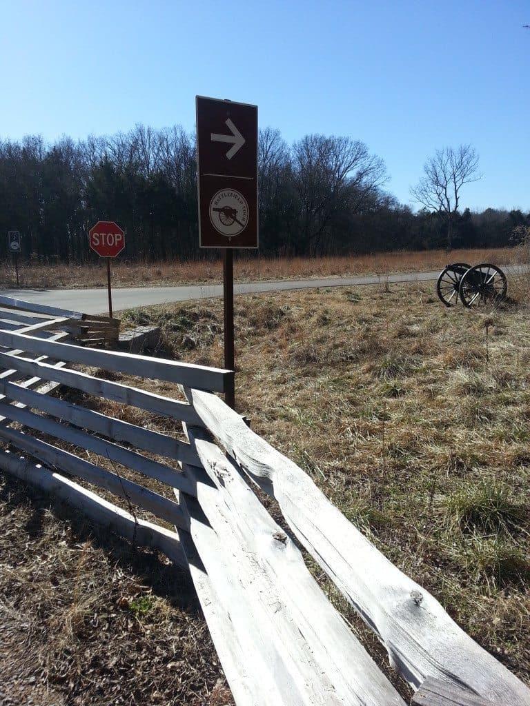 Stones River Battlefield directory sign