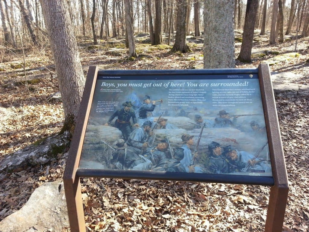 Stones River Battlefield sign