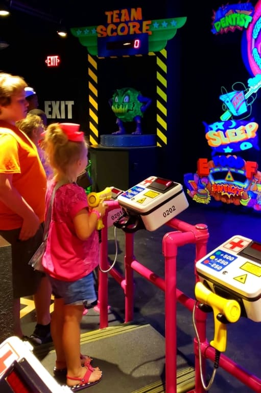 Adventure Science Center - playing Body Quest game