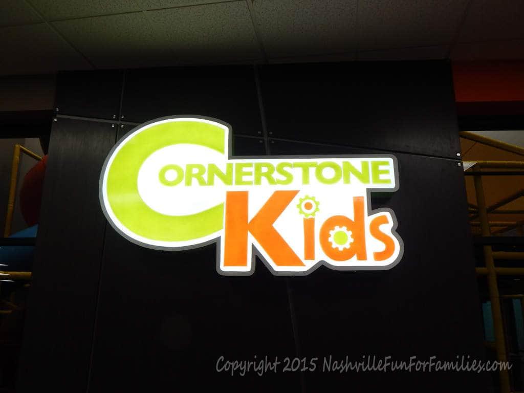 Cornerstone Indoor Playground - Kids Sign