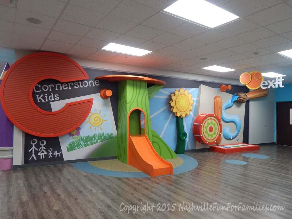 Cornerstone Indoor Playground - Kids entry area