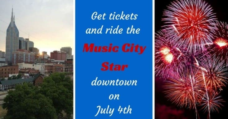 Ride the Music City Star downtown for July 4th