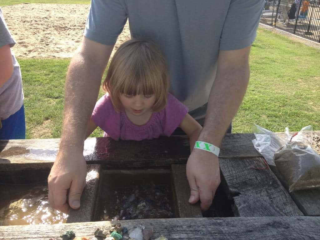 nashville fun for families - jellystone park - mining sluice