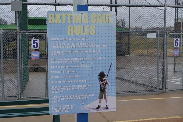 GO USA Fun Park - Batting cage rules
