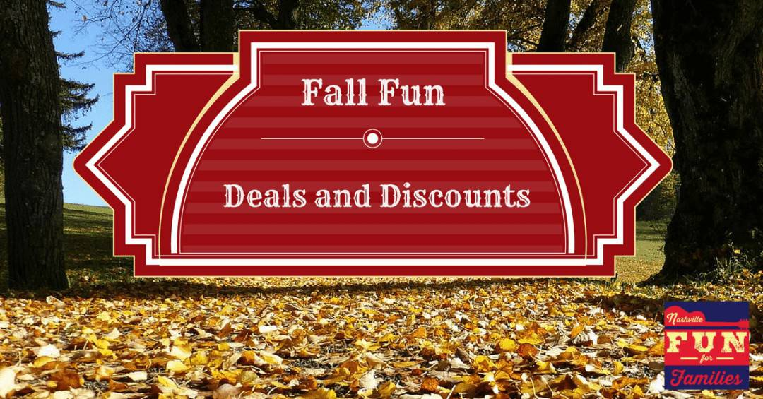 Fall Fun Deals and Discounts