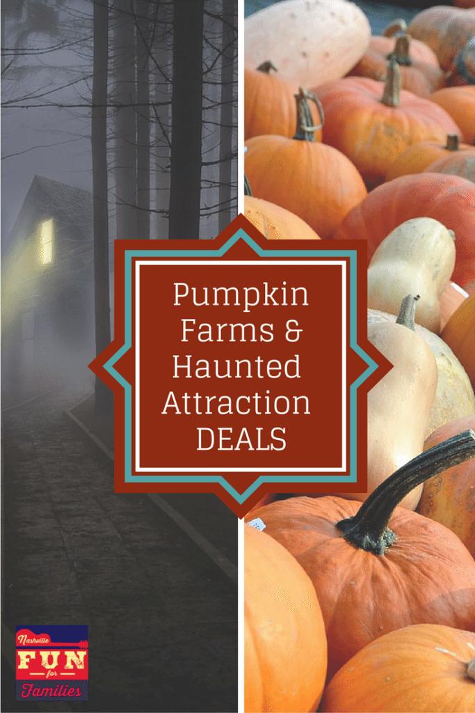 Nashville Family Fun Guide - Pumpkin Farms, Haunted Houses, deals (pinterest)