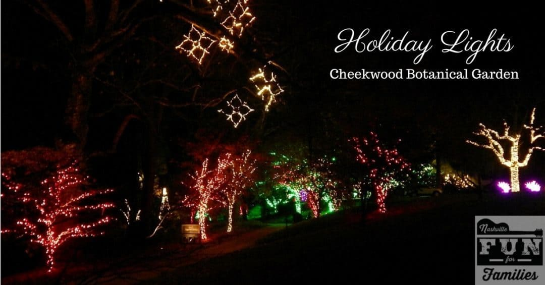 holiday lights at cheekwood botanical garden