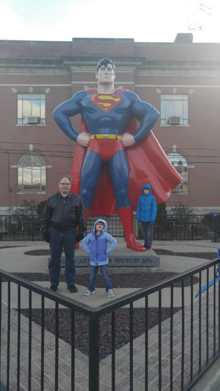 Superman in Metropolis, Illinois - Superman statue