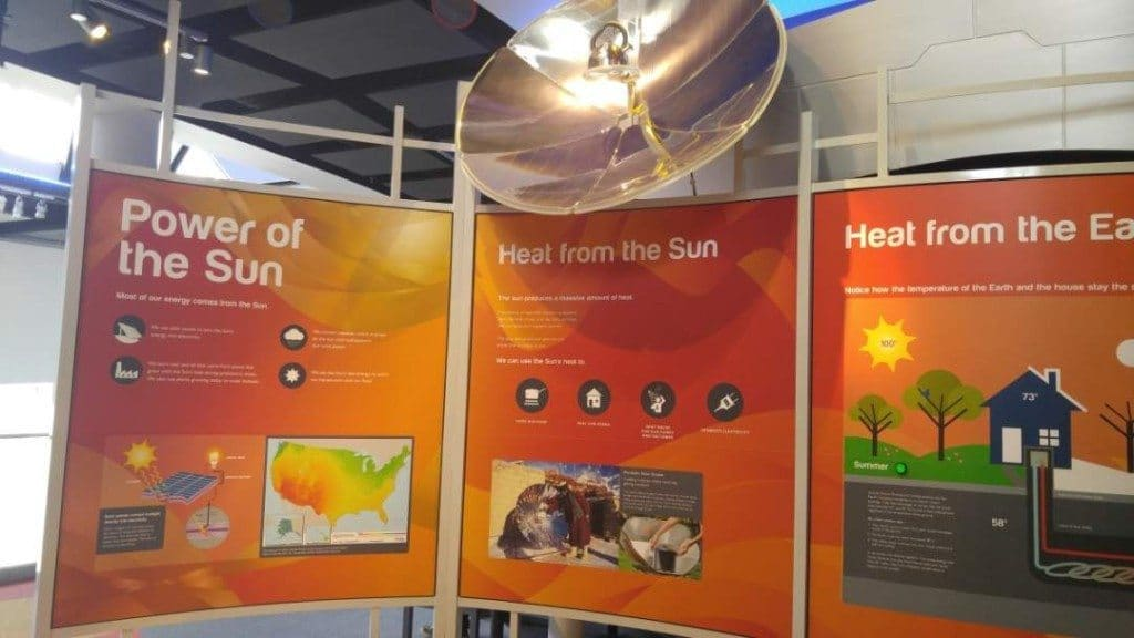 Discovery Park of America - Solar energy display