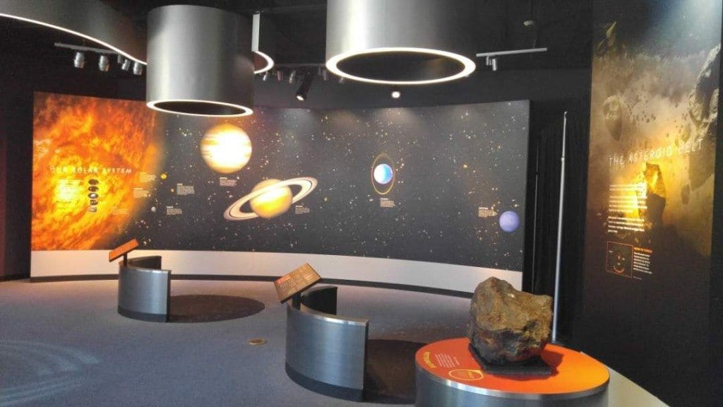Discovery Park of America - space and planet exhibit