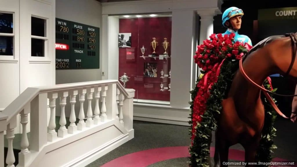 Churchill Downs & The Kentucky Derby jockey and horse exhibit