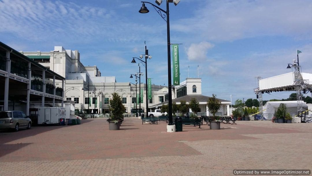Churchill Downs & The Kentucky Derby outdoor courtyard