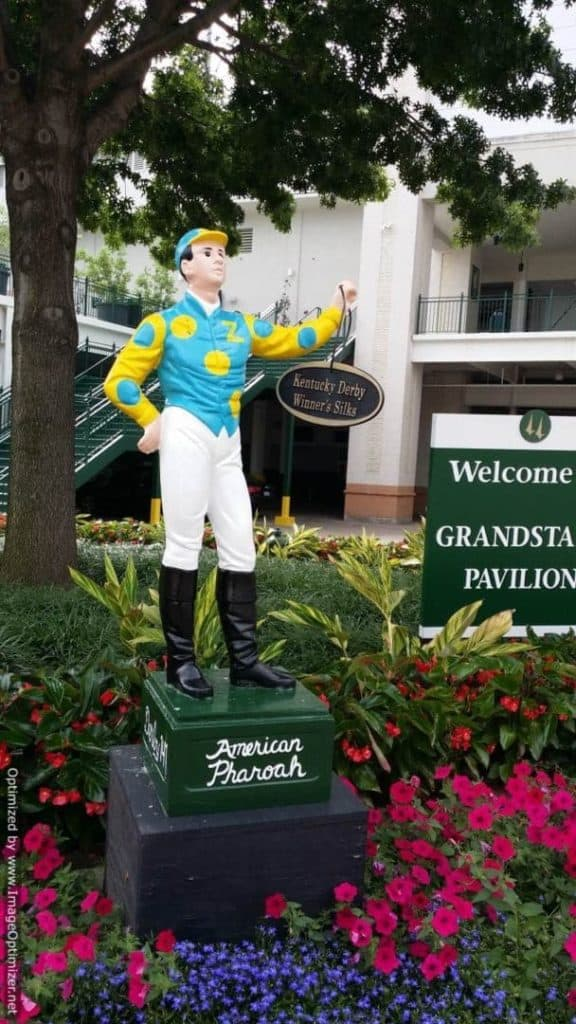 Churchill Downs & The Kentucky Derby jockey statue