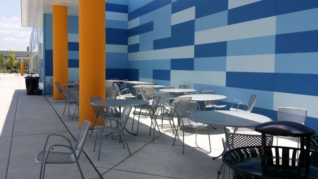Ford Ice Center outdoor seating