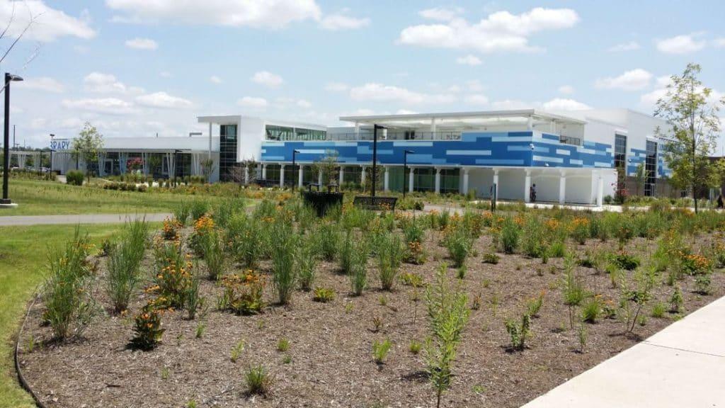 Ford Ice Center garden