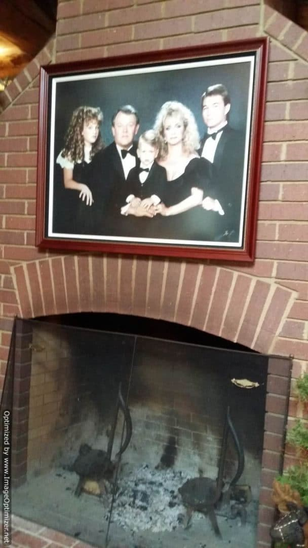 The Fontanel family photo above fireplace