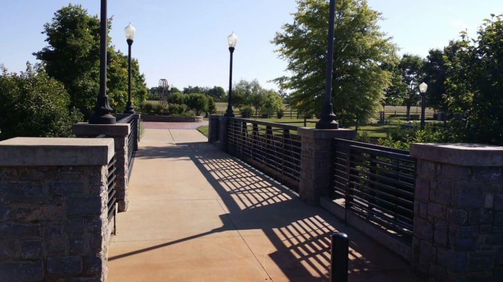 Gateway Island bridge walkway